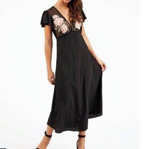 Cleobella Black Mesh Midi Dress
